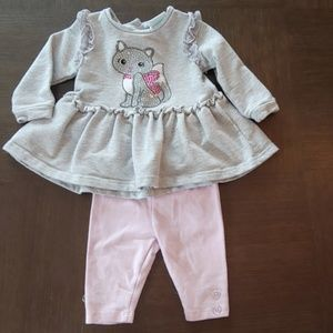 Nannette Baby Outfit- Cat Sequins
